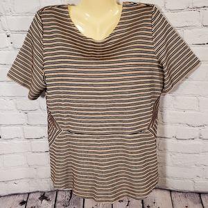 Talbots Striped Short Sleeve Top